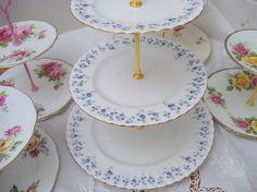 Royal Albert Memory Lane 3-tier high tea by YorkshireTeaCupShop