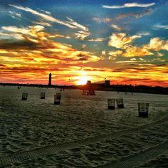 Jones Beach, NY. Sunset