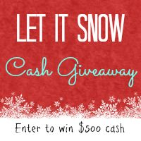 Let It Snow Cash Giveaway!