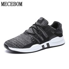 the latest 89440 3ead9 Fly Weave Running Shoes For Men Athletic Breathable Flat Sneakers Men Hard  Court Sport Shoes Men Zapatillas Hommbre Plus Size 46