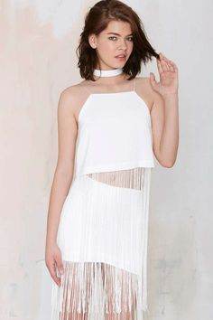 Line & Dot Gloss Fringe Tank - Tanks | Clothes | All | Line and Dot