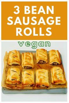 Spicy 3 Bean Sausage Rolls