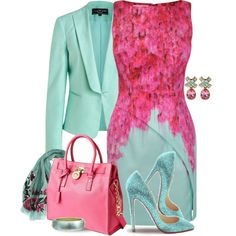"""Pink & Mint"" by yasminasdre"