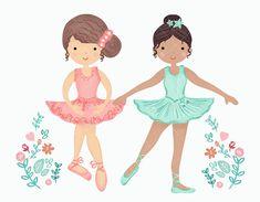 Beautiful Ballerina Girl In Tiara Stock Vector ...   Ballerina Tiaras Cartoon
