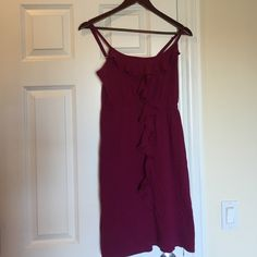 Old Navy Women's Dress Size Small. Ruffles on the front. Worn a few times still in great condition. Color magenta/purple. Make reasonable offer. No trades! Old Navy Dresses Backless
