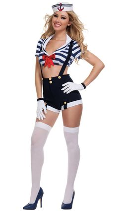 Harbor Hottie Salior Costumes, Sexy Sailor Costumes, Sexy Halloween Costumes