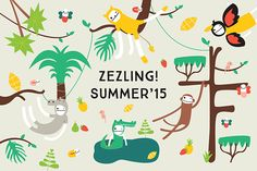 Zezling!'s Summer '15 Collection ON SALE NOW! Summer Campaign, Fabric Dolls, Summer Collection, New Work, Fabric Design, Nursery Decor, Baby Gifts, Banner, Stationery