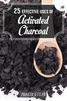 Check out 25 Effective Uses of Activated Charcoal at http://pioneersettler.com/activated-charcoal-uses/