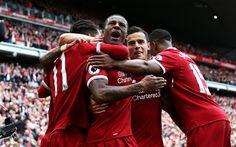 Lataa kuva Liverpool, Football Club, Sadio Mane, Philippe Coutinho, Daniel Sturridge, Premier League, Englanti, jalkapallo