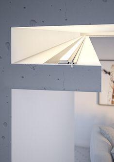 Hidden Lighting, Cove Lighting, Indirect Lighting, Recessed Ceiling Lights, Ceiling Light Design, Ceiling Decor, Bathroom Lighting Design, Interior Lighting, Wardrobe Door Designs