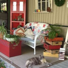 This is my summer sanctuary!  It is so relaxing to come out in the morning and have a cup of coffee and read the newspaper or a book!  Our cat loves the space too!Pam Gamache