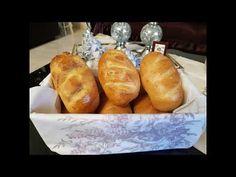 Αφράτα ψωμάκια- Fluffy bread rolls - YouTube Bread Rolls, Baked Potato, Potatoes, Baking, Ethnic Recipes, Youtube, Food, Bread Making, Meal
