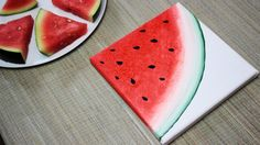 How To Paint a Watermelon - DIY 2/3 Fruit Painting Series