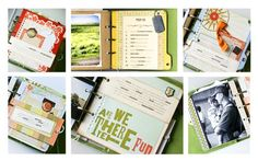 SMASH book ideas - journal with folders, getting ideas!!!