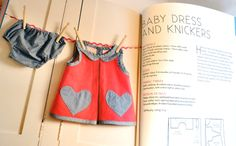 The Great British Sewing Bee book, Baby Dress & Knickers Sewing Pattern #sewing #vintage #sewingbee #gbsb #sewingmachine #singer #craft #baby #clothes #pattern