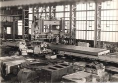 Craven Brothers planing mill , note worker on table