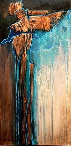 Copper Illusion, 03008 by Carol Nelson Mixed ~ 48 x 24