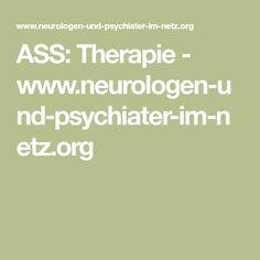 ASS: Therapie - www.neurologen-und-psychiater-im-netz.org