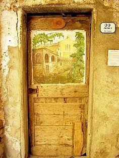 Valloria, an Italian village with painted doors