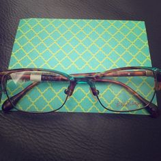New Lilly Pulitzer frames for kids! Beautiful aqua blue and brown frames. Lilly Pulitzer Accessories Glasses