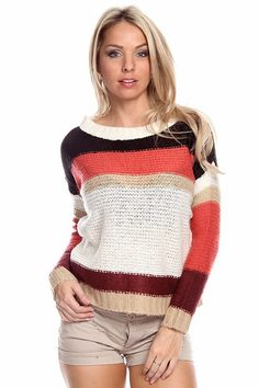 sexy cardigan | Most popular tags for this image include: knit sweater, stripe sweater ...