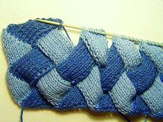 вязание энтрелак энтерлак спицами техника для начинающих