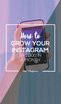 How do you grow your Instagram followers from zero to 1,000 in a month?  Here's the 2-step process that'll make it happen.