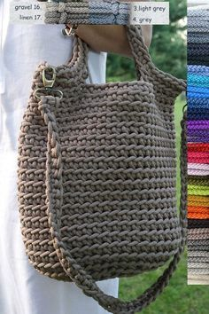 Rope bag / Unique design Bag from rope / Handmade crochet bag / market bag…