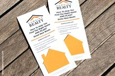 Attach a seed paper house shape to your marketing messaging on a panel card size of your choice as a unique handout for prospective clients....