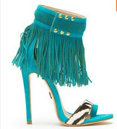 Cheap heels gladiator, Buy Quality wild thing directly from China gladiator women Suppliers: New Women Hot sale summer new design wild things tassel sandals blue red rose fringe sandals high heel gladiator women sandal bo