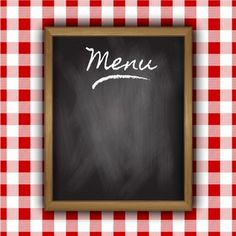 Buy Menu Background by kjpargeter on GraphicRiver. Chalkboard menu design on a gingham background. Files included – ai (version ten and eps (version ten) and high. Food Graphic Design, Food Menu Design, Food Truck Design, Blackboard Menu, Wood Menu, Picnic Menu, Kitchen Logo, Pizza Art, Menu Boards