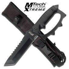 MTECH XTREME USA MX-8067 FIXED BLADE Black KNIFE W/ Knuckle Handle