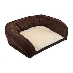 PRECISION COUCH DAYDREAMER DOG BED 35 X 27 CHOCOLATE - BD Luxe Dogs & Supplies