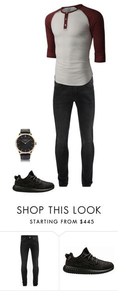 """""""Baseball Tee"""" by leisure-alexa ❤ liked on Polyvore featuring Alexander McQueen, LE3NO, adidas, Locman, men's fashion and menswear"""