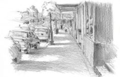In this lesson, Grant Fuller teaches how to draw a Street Scene in  One-Point Perspective from Start Sketching and Drawing Now. This will be a one-point perspective drawing from the street level with a single vanishing point.