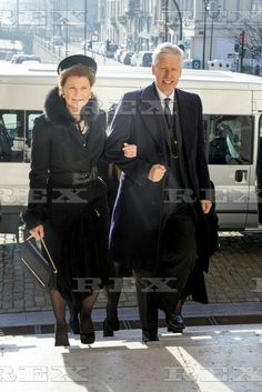 Mass for deceased members of royal family at Church of Our Lady of Laeken, Brussels, Belgium - 17 Feb 2016  Prince Nikolaus of Liechtenstein, Princess Margaretha Of Luxembourg 17 Feb 2016