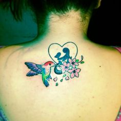 My mother daughter tattoo with the additional hummingbird. Done by Rana at eyecandy Bangor Northern Ireland