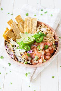 Vegan Fish Taco Bowl from Vegan Bowl Attack - Veggies Don't Bite