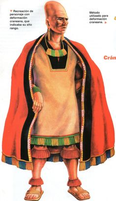 Paracas lord. Paracas practiced cranial deformation and are known for their detailed and complex textiles