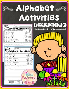 This resource is perfect for preschool, kindergarten and first graders. There are 3 free pages alpha First Grade Freebies, Kindergarten Freebies, First Grade Worksheets, Kindergarten Lesson Plans, Kindergarten Worksheets, Kindergarten Teachers, Learning The Alphabet, Alphabet Activities, Classroom Activities