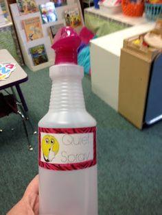 Creative Classroom Management in Kindergarten: Quiet Spray!! - Kreative in Life