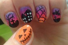 Nail art from the NAILS Magazine Nail Art Gallery, polish, Accent Nail Designs, Cool Nail Designs, Halloween Nail Art, Halloween Designs, Finger Nail Art, Latest Nail Art, Nail Polish Art, Top Nail, Nail Art Hacks