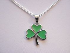 Items similar to Irish Shamrock Pendant Necklace on Silver Plated Chain St Patrick's Day, Paddys Day Children Adults Irish Jewellery on Etsy Irish Jewelry, Gifted Kids, Paddys Day, Vintage Marketplace, St Patricks Day, Silver Plate, Pendant Necklace, Jewels, Chain