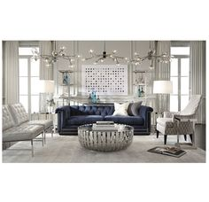 Mitchell Gold Bob Williams Deep Hollywood Glam Hunter Sofa And Chair With The Avery Chair
