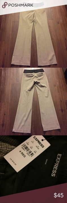"""NWT! Express Editor Pants Size 4R NWT! Inseam measures 32 1/2"""". Rise measures approx 9 1/4"""". 🚫Trades! Open to reasonable offers through the offer button! Express Pants Boot Cut & Flare"""