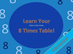 Learn Your 8 Times Table