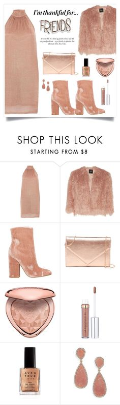 """""""I'm Thankful For..."""" by alinepinkskirt ❤ liked on Polyvore featuring River Island, Theory, Kendall + Kylie, Urban Expressions, Too Faced Cosmetics, Avon and BaubleBar"""