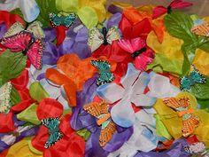 JADA ROO CAN DO: May Inside Sensory Bin, butterfly spring. Take apart Hawaiian Leigh for flowers in bulk.