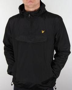 Lyle And Scott Smock, Qtr Zip, Overhead, Black,jacket,coat