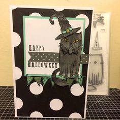 Happy Halloween - Aug Stamp of the Month Purr-fect Halloween www.maz.closetomyheart.com.au
